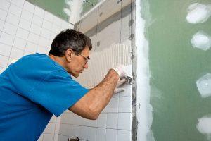 Tiling The Bathroom Tub Enclosure